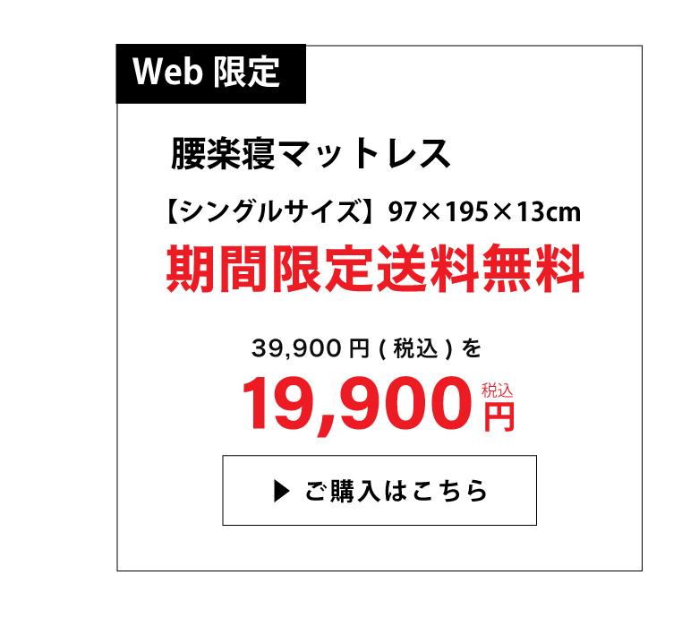 WEB限定マットレス19900円シングルサイズ