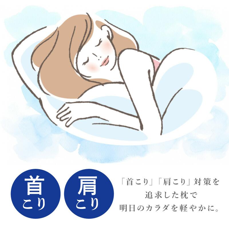 首こり肩こり対策を追求した枕-首肩快適枕プレミアムネイビー