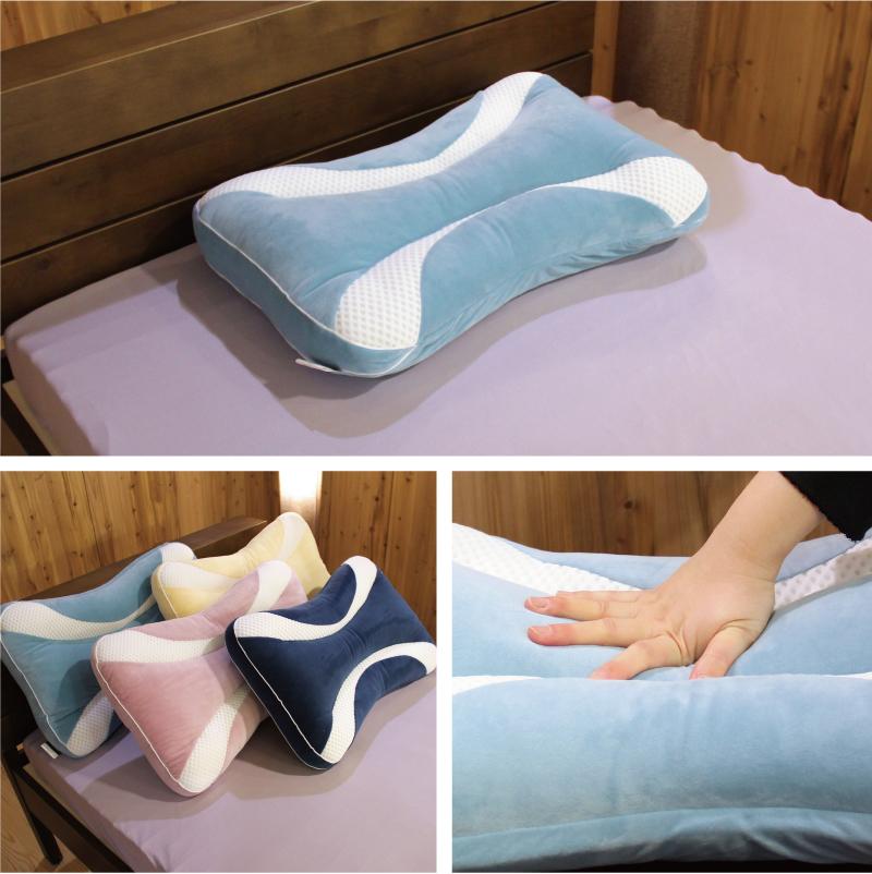 もっちりタイプ、ふんわりタイプ選べる2種類。首に優しい調整枕
