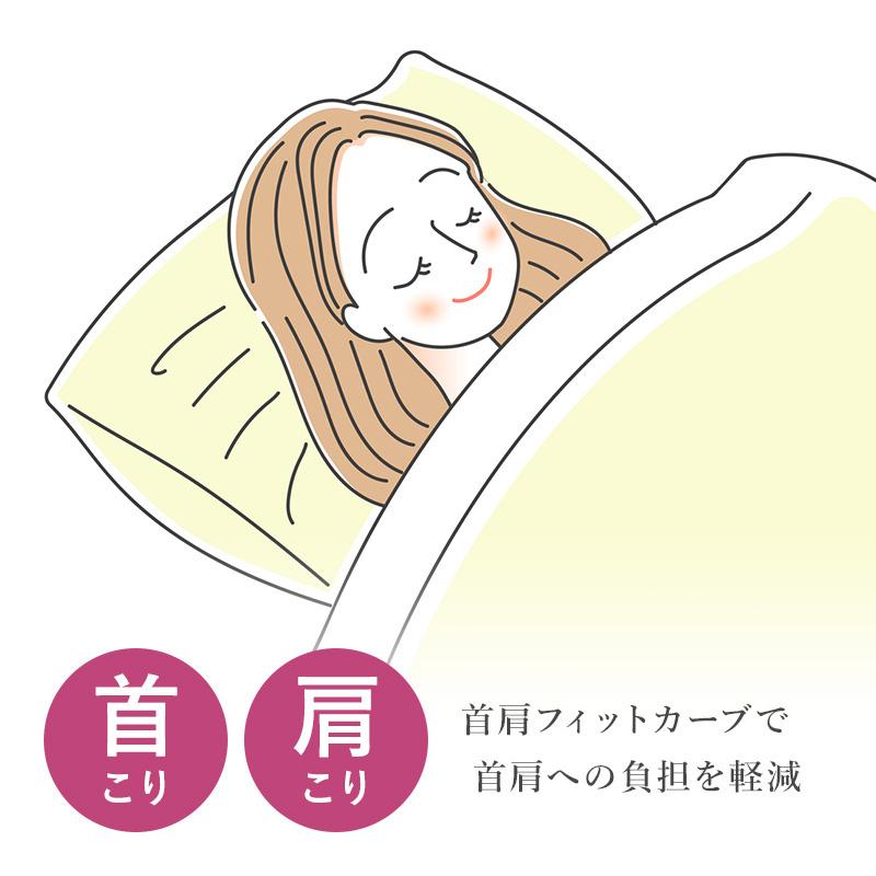 首こりや肩こりに、首肩フィsとかーぶで首肩への負担を軽減。首肩快適枕シリーズ-寝返り美人枕