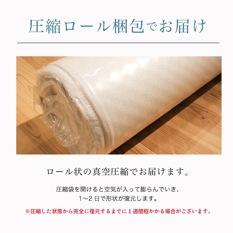 マイまくらマットN5-圧縮ロール梱包でお届け-圧縮袋を開けると空気が入って膨らんでいき、 1〜2日で形状が復元します。