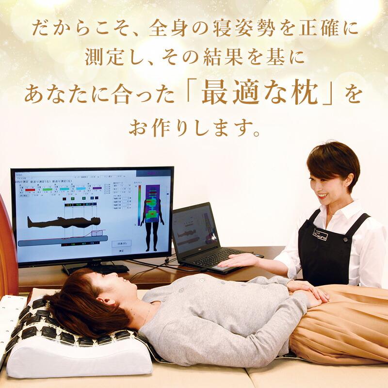 マイ枕はご購入後もアフターメンテナンス無料。いつでも何度でも調整いたします。 枕は毎日使うものですから、使い続ければ枕の材料のへたりやお身体の変化などによって合わなくなってきます。マイ枕は、お客様の頭の形や体つきに合わせて調整できる「枕が合わない悩み」を解消させた枕です。製作後、マイ枕を永くご使用できますよう、いつでも何度でも無料でアフターメンテナンス致します。お客様に最適な状態の枕を調整し続けます。