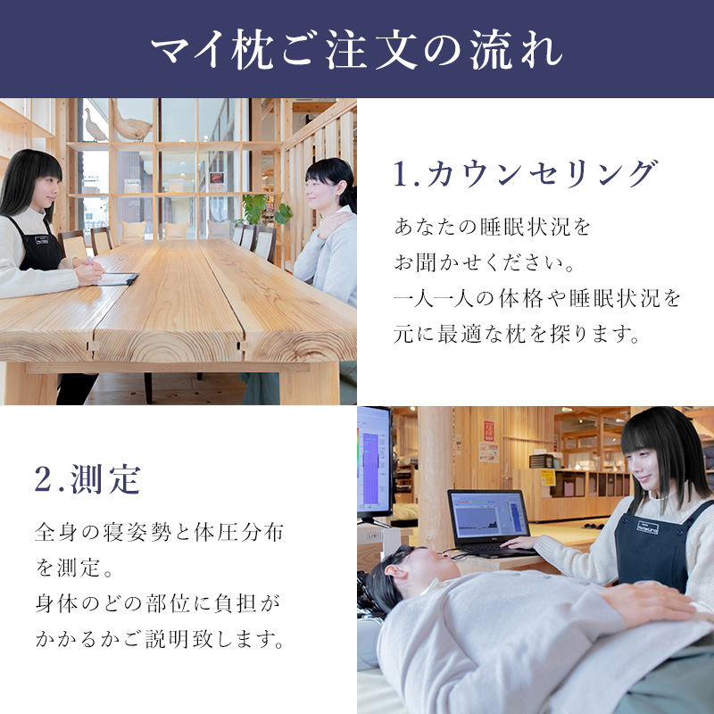 眠りの常識を変えるオーダーメイドまい枕愛用者数多数のベストセラー枕