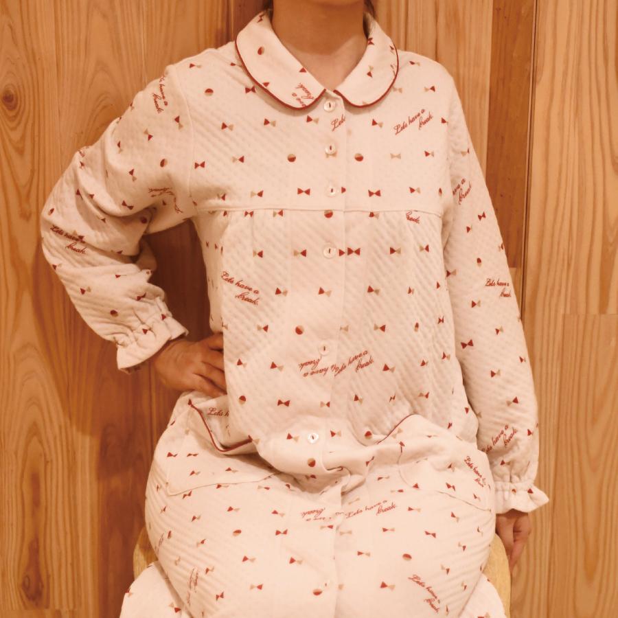 わた入りテリア柄レディースパジャマ