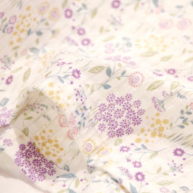 眠り衣 日本製 綿100% 空羽楊柳花柄 7分袖 パジャマ レディース