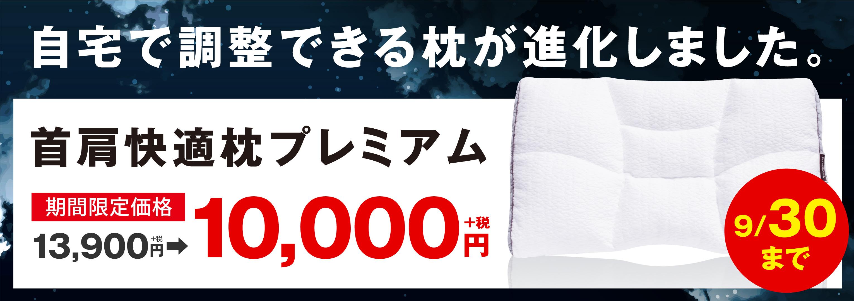 首肩快適枕が1万円